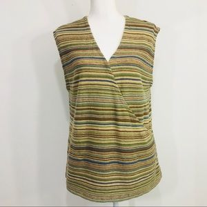LAUREN JEANS CO LAUREN Sz XL Wrap top  Multicolor